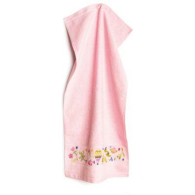 Hímezhető kéztörlő 30x50 rózsaszín