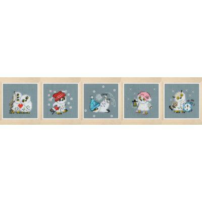 Keresztszemes készlet- Bagoly sorozat 5 db-os készlet