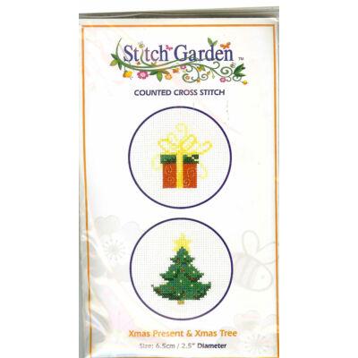 Keresztszemes készlet- Karácsony 2 db-os