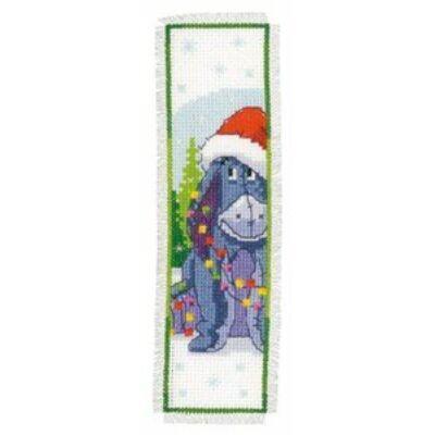 Keresztszemes könyvjelző készlet- Füles karácsonya
