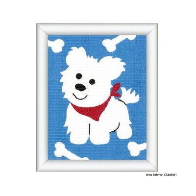 Gobelin készlet gyerekeknek- Fehér kutya