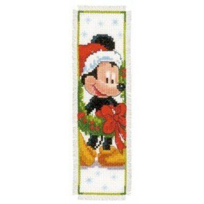 Keresztszemes könyvjelző készlet- Mickey egér