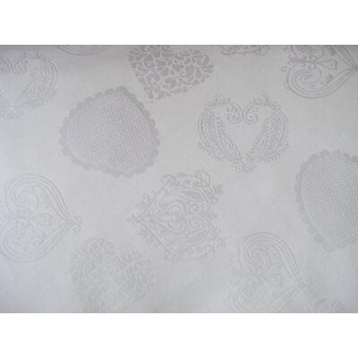 Hímezhető kongrébetétes anyag - szíves,fehér színű