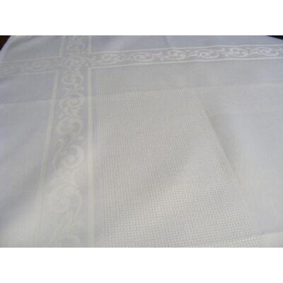 Damaszt terítő 90x90 fehér színű