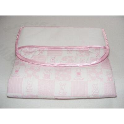 Hímezhető pelenkázólap-Állatos rózsaszín