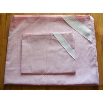 Hímezhető ágynemű-Rózsaszín pöttyös