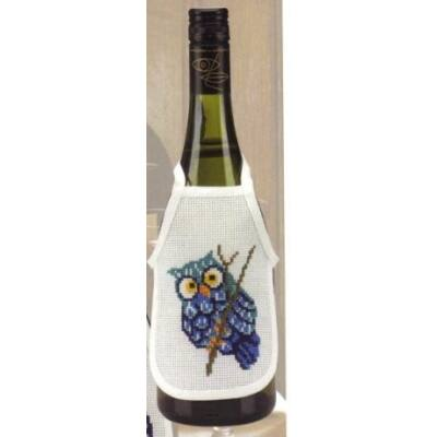 Hímezhető borkötény 16 ct-fehér