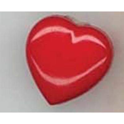 Gomb-Szív piros