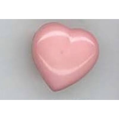 Gomb-Szív rózsaszín