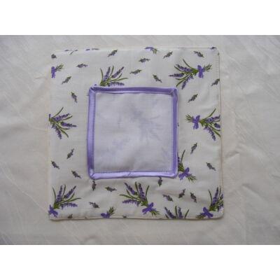 Hímezhető edényalátét-levendulás lila szegéllyel