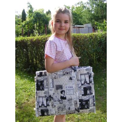 Gyerek napozó táska-francia hangulatban