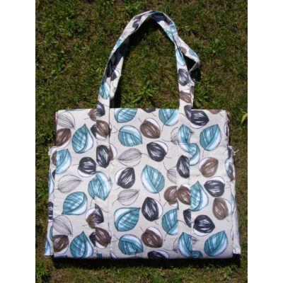 Napozó táska kék leveles