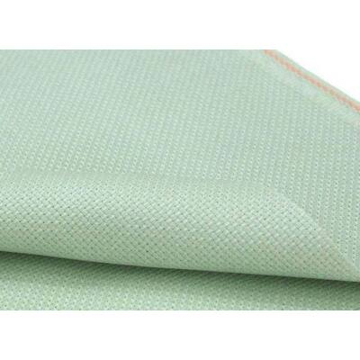 Zweigart aida zöld színű 18ct 43x50 cm