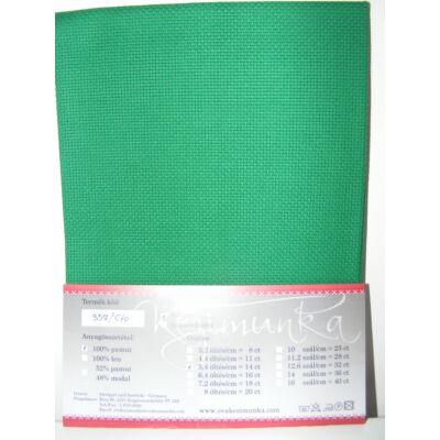 Aida zöld 14 ct 43x50 cm